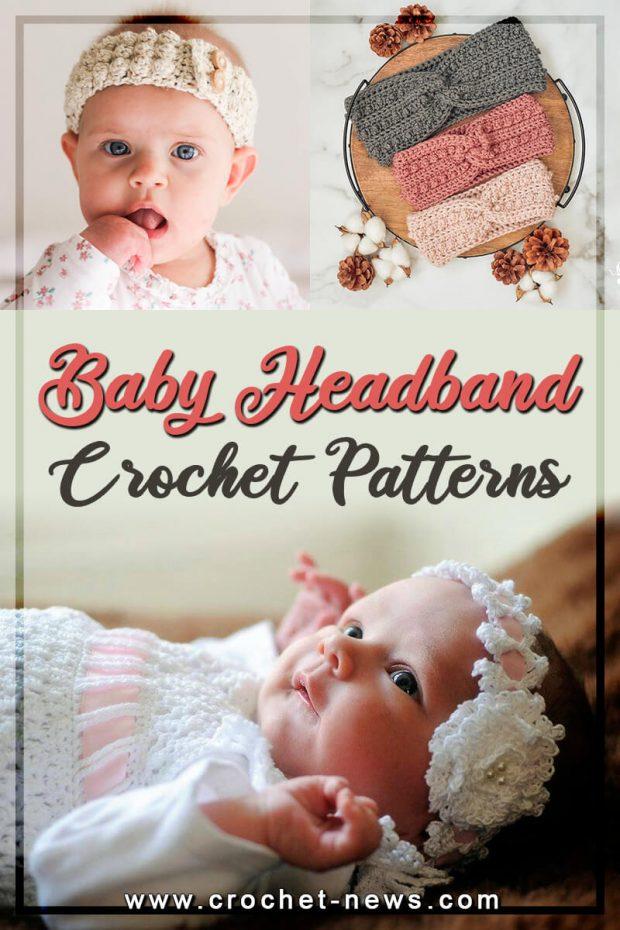 CROCHET BABY HEADBAND PATTERNS