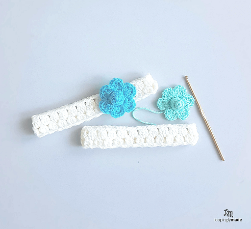 25 Minute Baby Headband Crochet Pattern by Loopingly Made