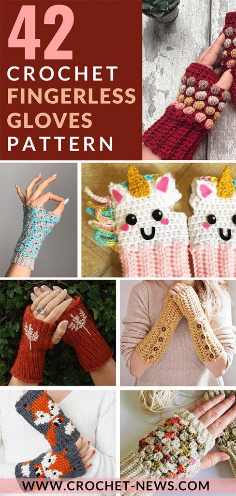 42 Crochet Fingerless Gloves Patterns