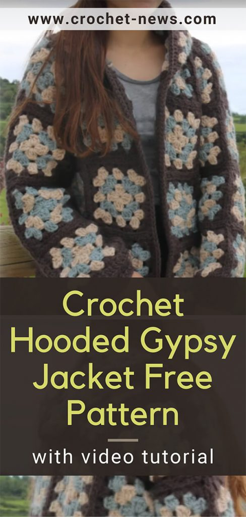 Crochet Hooded Gypsy Jacket Free Pattern With Video Tutorial