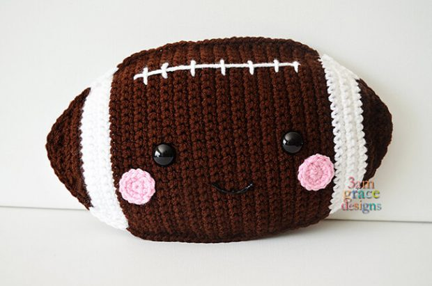 Football Kawaii Cuddler By 3amgracedesigns