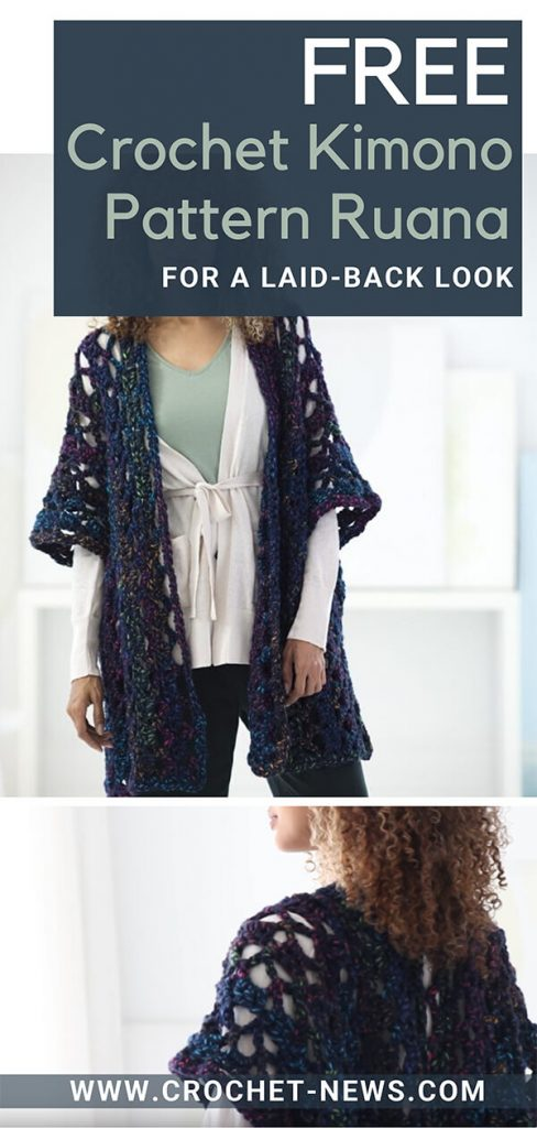 Free Crochet Kimono Pattern Ruana for a Laid-back Look
