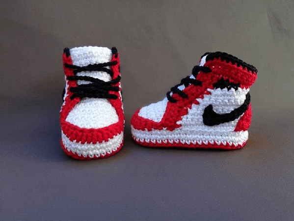 Air Jordan Baby Sneakers Crochet Pattern by Crochet Sneakers