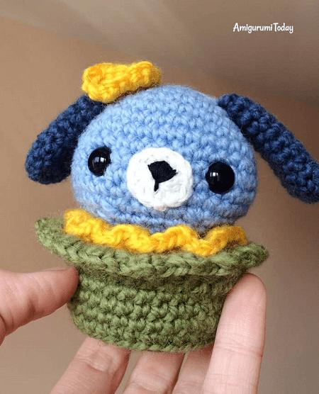 Amigurumi Dog Cupcake Pattern by Amigurumi Today