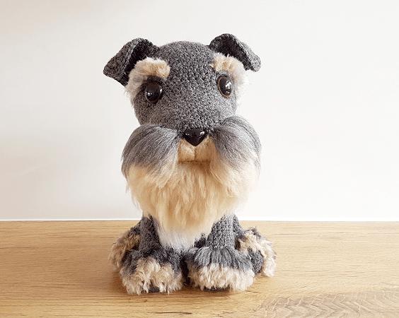 Amigurumi Schnauzer Dog Free Crochet Pattern by Projectarian