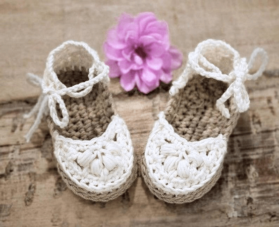 Baby Espadrilles Crochet Pattern by Hand Heart And Sole