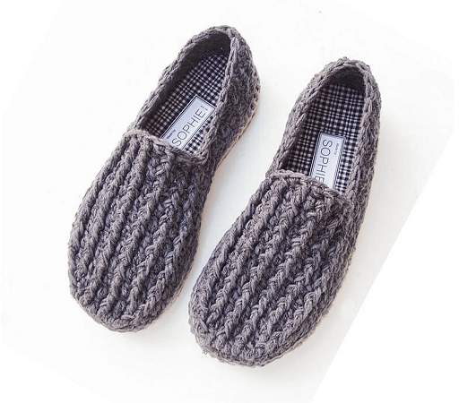 Basic Slippers For Men Crochet Pattern PDF Pattern Design