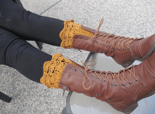 Belmont Boot Cuffs Crochet Pattern by Life Adorned