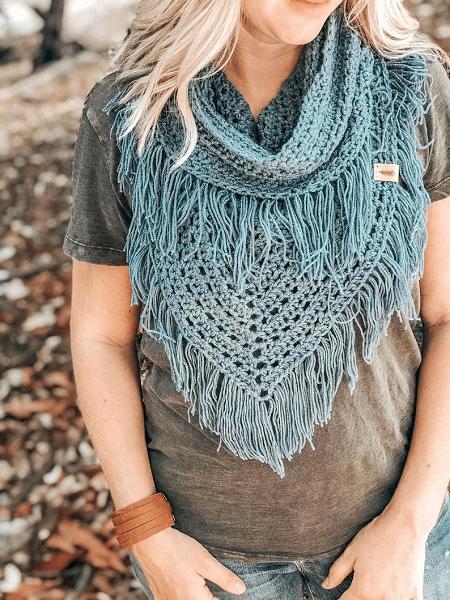 Boho Infinity Scarf Crochet Pattern by Wild Sapling