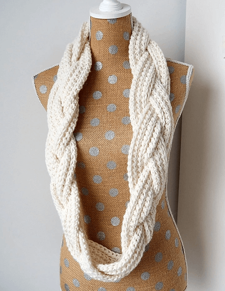 Braided Infinity Scarf Crochet Pattern by The Snugglery