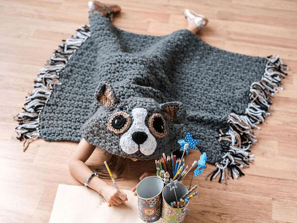 Bulky And Quick Dog Blanket Crochet Pattern by MJs Off The Hook