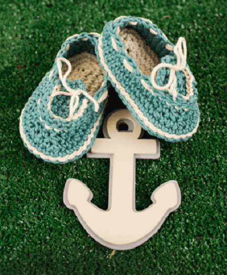 Captain Cutie Boat Shoes Crochet Pattern by I Like Crochet