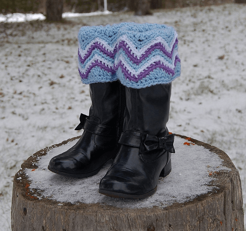 Chasing Chevrons Boot Cuffs Crochet Pattern by A Crocheted Simplicity