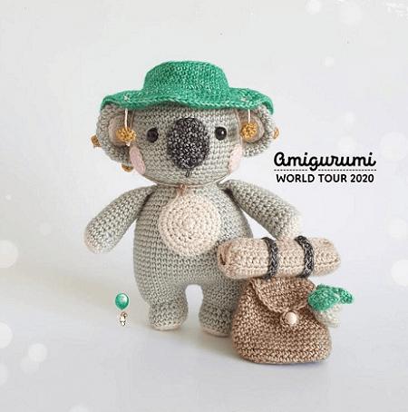 Clancy, The Backpacker Koala Crochet Pattern by Belle And Grace HMC