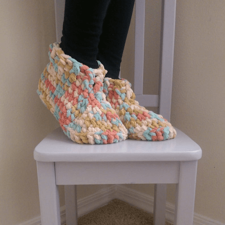 Cloud 9 Slippers Crochet Pattern by The Lavender Chair