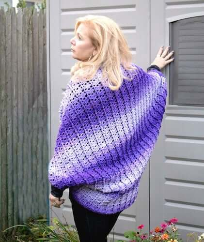 Crochet Cocoon Cardigan Pattern by The Pattern Paradise