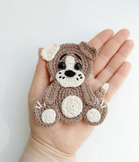 Crochet Dog Applique Pattern by Fancy Infancy Crochet