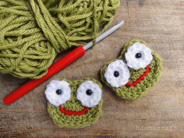 Crochet Frog Applique Pattern by Hanni Craft