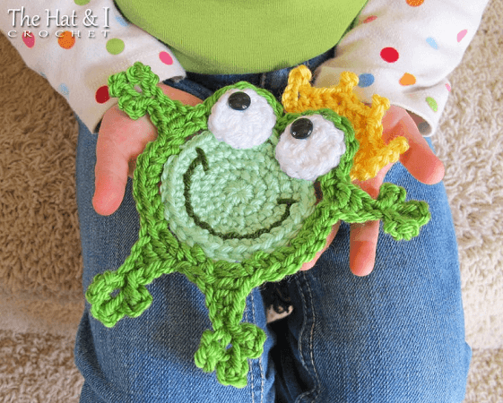 Crochet Frog Coaster Pattern by The Hat And I
