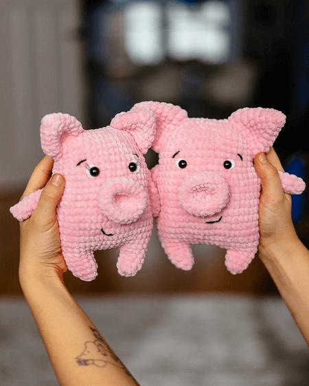 Crochet Piglet Soft Toy Pattern by Mumigurumi