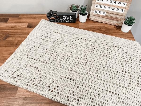 Crochet Puppy Blanket Pattern by Owl B Hooked