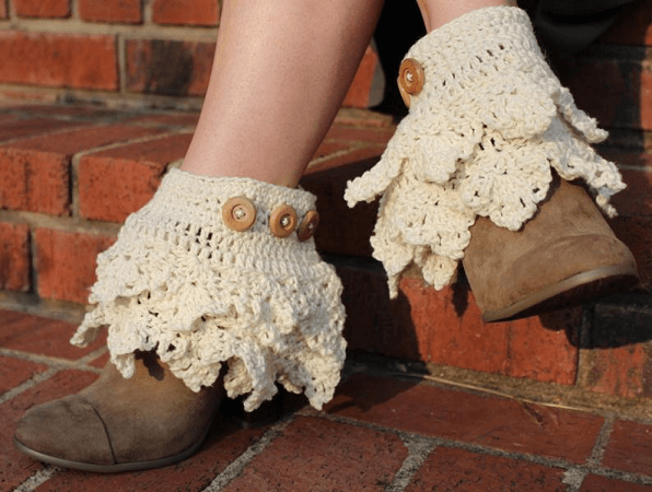 Crochet Ruffled Boot Cuffs Pattern by Lace N Whimsy
