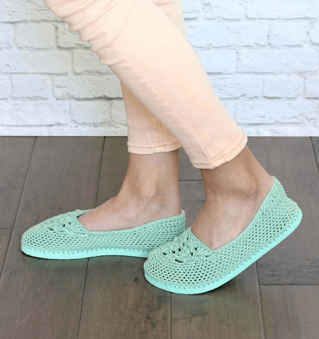Crochet Slippers Pattern With Flip Flops Sole by Make And Do Crew