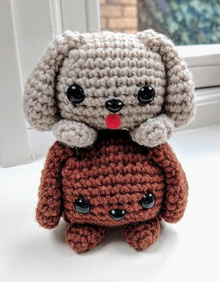 Cube Puppy Dog Amigurumi Pattern by Crafty Bunny Bun