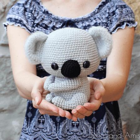 Cuddle-Sized Koala Bear Amigurumi Pattern by Storyland Amis