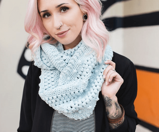 Dottie Infinity Scarf Crochet Pattern by The Hook Nook 12