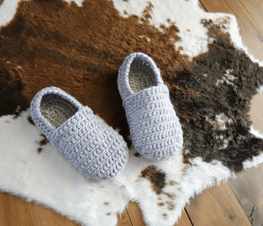 Easy Chunky Slippers Crochet Pattern by Crochet Milie