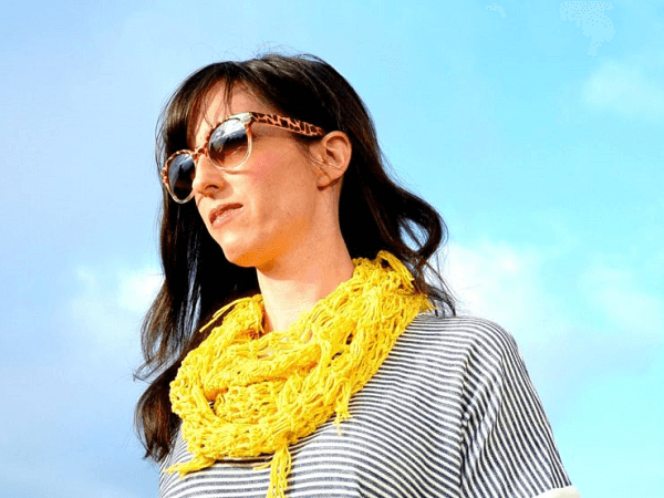 Easy Crochet Spring Infinity Scarf Pattern by Mama In A Stitch