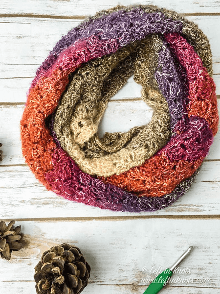 Eventide Infinity Scarf Crochet Pattern by Left In Knots