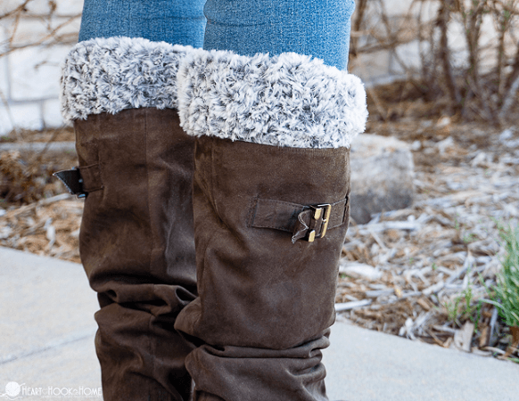 Faux Fur Boot Cuffs Crochet Pattern by Heart Hook Home