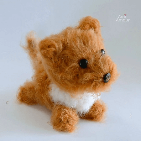 Fluffy Dog Amigurumi Pattern by Ami Amour