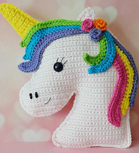 Free Unicorn Crochet Pattern by 3am Grace Designs