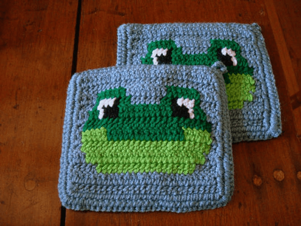 Frog Potholder Crochet Pattern by Hoooker