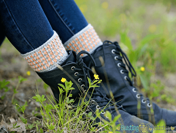 Grey Boot Cuffs Crochet Pattern by Melody's Makings