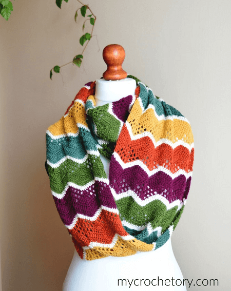 Havra Crochet Infinity Scarf Pattern by My Crochetory