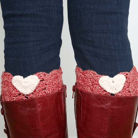 I Heart Boot Cuffs Crochet Pattern by Felted Button