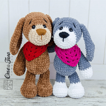 Joe, The Puppy Amigurumi Pattern by One And Two Company