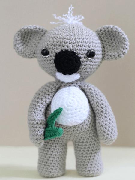 Kc, The Koala Crochet Amigurumi Pattern by Hello Yellow Yarn