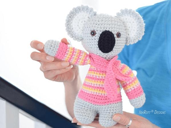 Ken, The Koala Crochet Pattern by Ira Rott Patterns