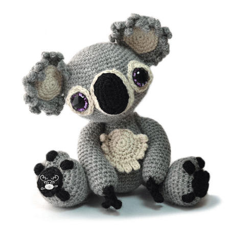 Amigurumi koala with heart pattern - Amigurumi Today | 450x450
