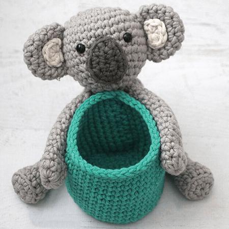 Koala Crochet Basket Pattern by Yarnspirations