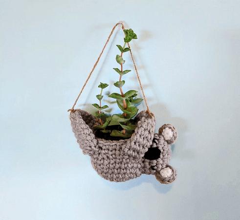 Koala Planter Crochet Pattern by Hello Happy