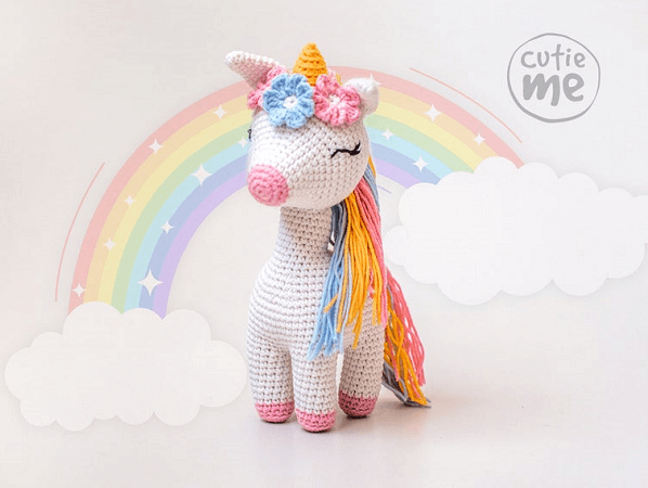 Lucy, The Unicorn Crochet Pattern by Cutie Me Store