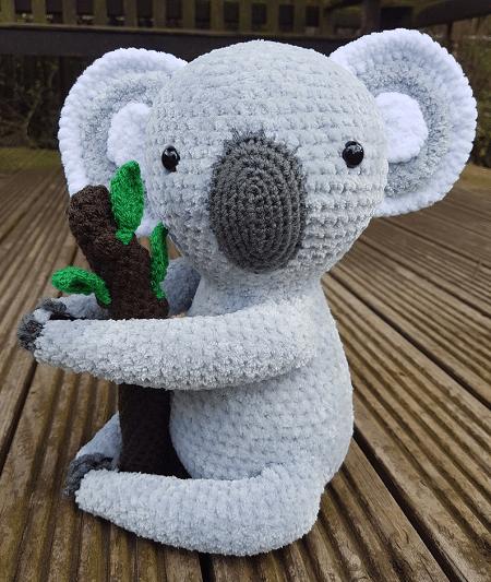 Matilda, The Koala Amigurumi Pattern by Hooked On Ewe Crochet UK