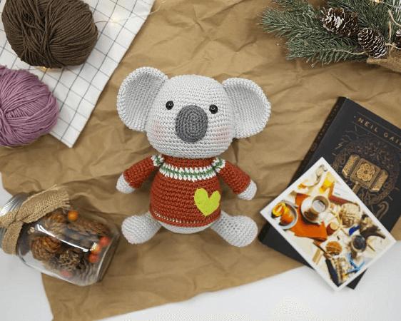 Max, The Koala Amigurumi Pattern by Meow Knitting Boutique
