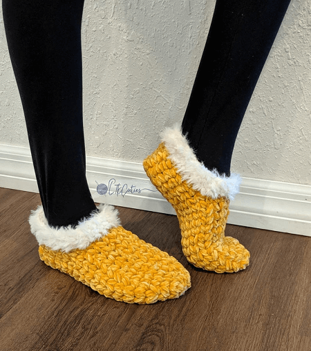 Meadow Slippers Crochet Pattern by LTK Cuties